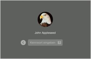 Mac Startbildschirm Anmelden