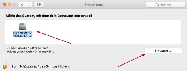 mac start mit fragezeichen